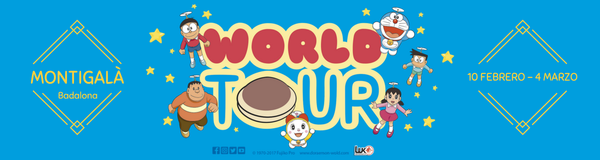 ¡Doraemon World Tour 2017, el evento infantil en Badalona más divertido!